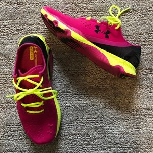 Under Armour Sneakers - NWOT pink / neon yellow